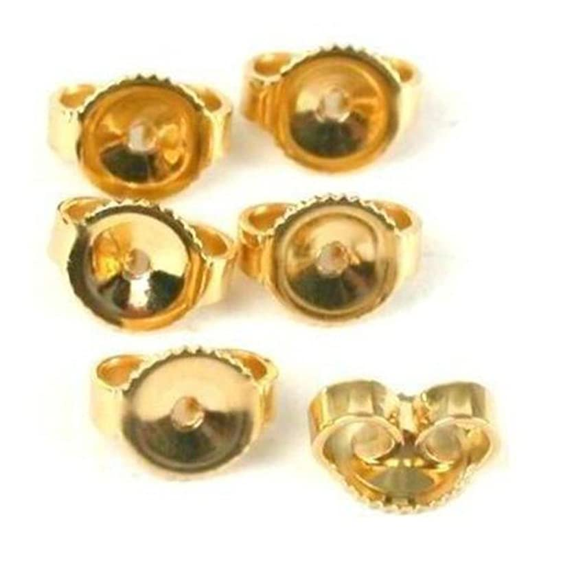 6 14K Gold Filled Earring Backs Yellow Stud Nut Part oolz778228930799