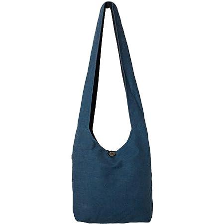 Vishes - Stoff Shopper Stofftasche Einkaufstasche Umhängetasche große Beuteltasche Schultertasche - Damen Herren blau