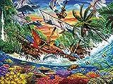Buffalo Games - Marine Color - Shipwreck Reef - 1000 Piece Jigsaw Puzzle