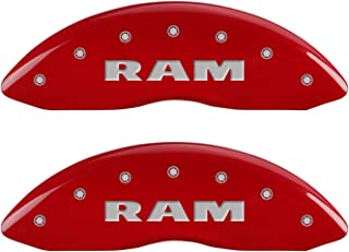 MGP Caliper Covers 55001SRMHRD Caliper Cover with Red Powder Coat Finish, (Set of 4)