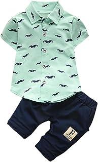 FNKDOR Baby Baby Kleidung Jungen, FNKDOR Junge Neugeboren T-Shirt Bart Tops  Shorts Set