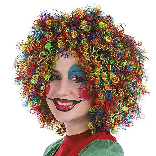Ringellocken Perücke multicolor kunterbunte Kurzhaarfrisur Accessoire Karneval