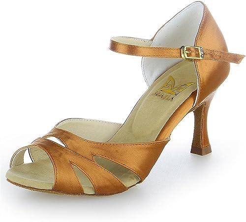 Jia Jia Jia Y2055 Chaussures de danse latine satin  prix plancher