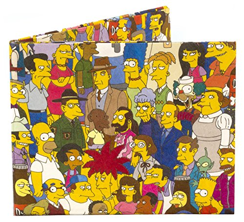 Dynomighty Men's Simpsons Cast Mighty Wallet - Super Thin Lightweight Tyvek Billfold