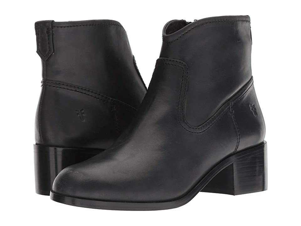 Frye Claire Bootie (Black Waxed Pull Up) Women