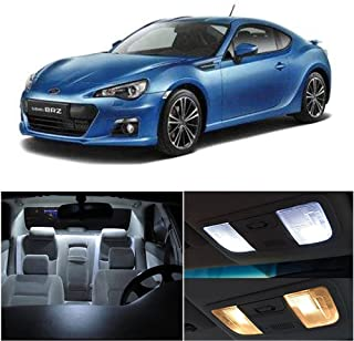SCITOO 11Pcs White Interior LED Light Package Kit Replacement Bulbs Fits for Subaru BRZ 2013-2017