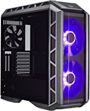 Cooler Master MasterCase H500P ATX Mid-Tower, Tempered Glass Panel, Two 200mm RGB Fans with Controller and Case Handle for Transport (Renewed)