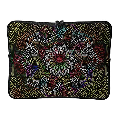 Regular Gradient RoyalBlue Laptop Bags Retro Lightweight - Bohemian Tablet Cover Suitable for Outdoor white4 13 Zoll