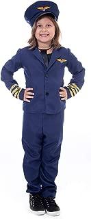 Kids Airline Pilot Halloween Costume - Dress Up, Pretend Play