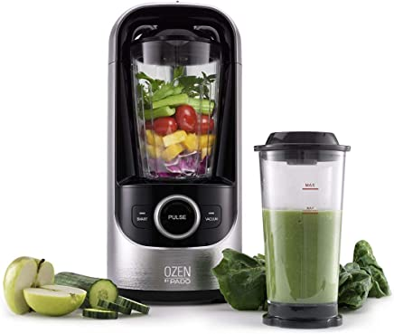 PADO HAF-HB500-SIL Ozen 500,  High Speed Blender for Blending Healthier Smoothies and Juice,  Plus Extra Vacuum Storage Container-Silver