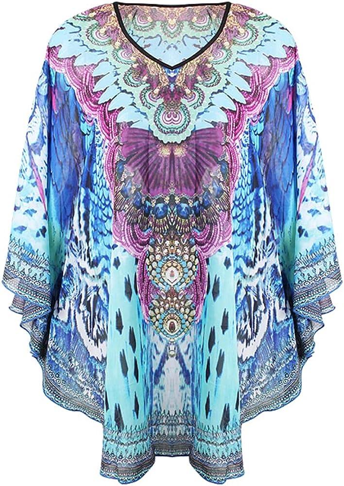 Women's Beach Chiffon Cover ups for Swimwear Swimsuit Bathing Suit Swim Cover Leopard Peacock Feather Print Kimono Cardigans