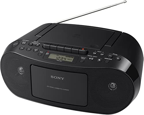 2021 Sony online CFDS50 Classic CD and Tape high quality Boombox with Radio - Black outlet online sale