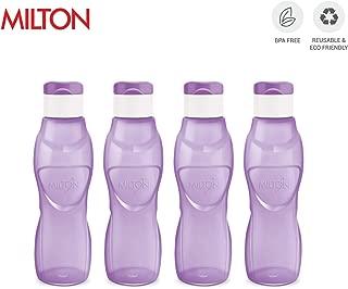 MILTON Ace Flip Lid Sports Water Bottle BPA Free Leak Proof & Reusable 4 Piece Set, 33 oz (Purple)