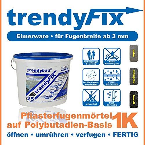 1K Pflasterfugenmörtel trendyFIX für unkrautfreie Fugen - 25 kg (steingrau)