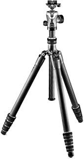 Gitzo GK2545T-82QD Traveler Tripod Kit with Pro Center Ball Head - Compact, Foldable and Light with Short Column Included ...