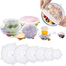 Eyshp Silicone Stretch Lids, Insta Lids, Instalids, Reusable Stretch Lids With Hanging Holes Fit Round & Square Bowls, Jar...