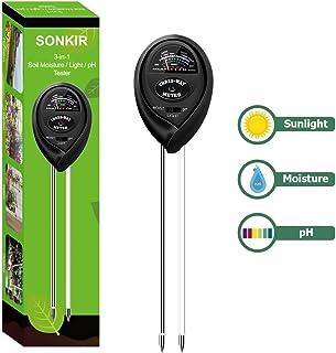 Sonkir Soil pH r, 3-in-1 Soil Moisture/Light/pH r Gardening Tool Kits for Plant Care, Great for Garden, Lawn, Farm, Indoor...