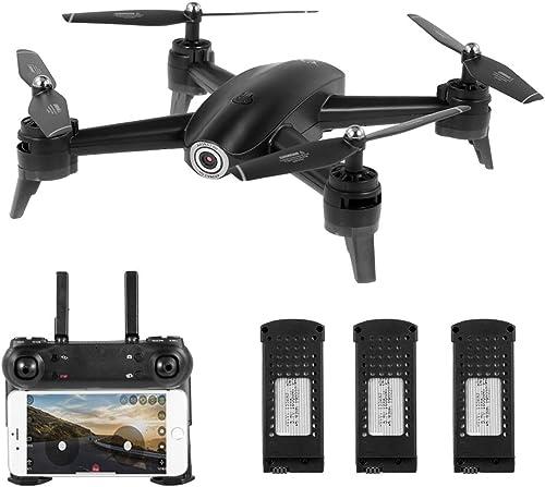 tienda de pescado para la venta Goolsky- S165 RC RC RC Drone con cámara 720P WiFi FPV Altitude Hold Gesture Photography Quadcopter con 3 baterías para Niños  punto de venta de la marca