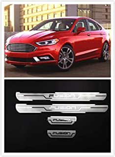 For Ford Fusion Accessories 2014-2019 Steel Door Cover Door Sill Scuff Plate Door Sill Protector Cover Trim 4pcs