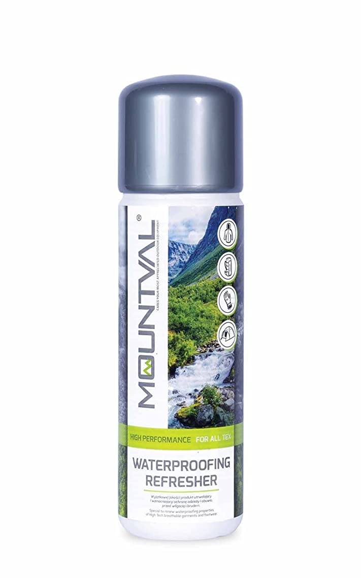 Mountval Waterproofing Refresher, Wash In Waterproofing Solution For Wet Weather Clothing And Hiking Gear