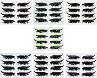 Beaupretty 8 Pares Olhar Cílios Postiços Olhe Cílios Postiços Olhos Cílios Ralos Cílios Cílios Banda Naturais Fofo Volume ...