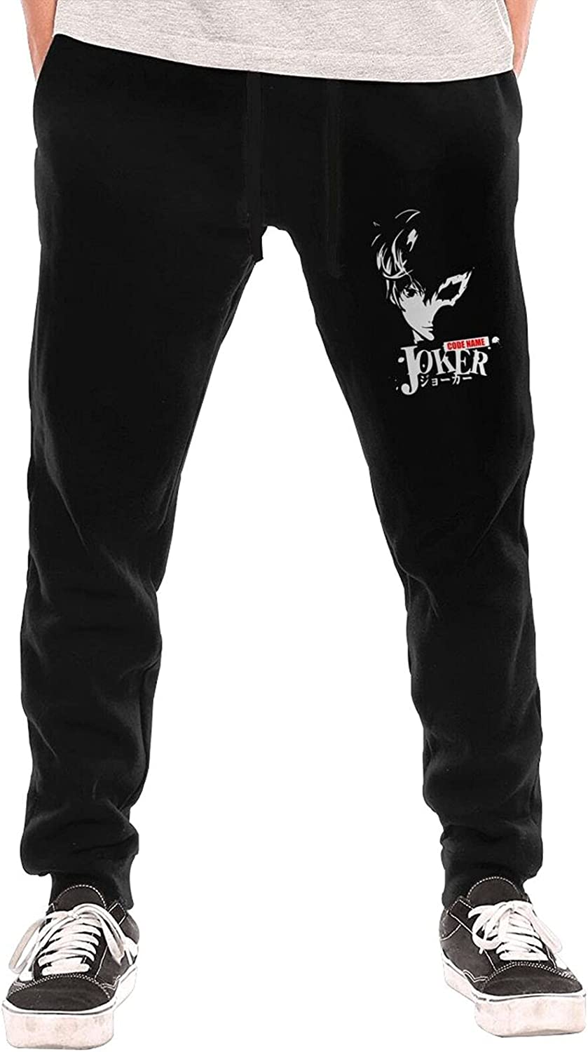 Anime Persona 5 The Joker Long Pants Mens Unique Sports Jogger Trousers Slacks Have with Pockets Bottoms