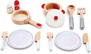 Hape E3150 Cook and Serve Set SILVER