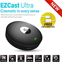 $79 » EZCast Ultra | 4K HDR Universal HDMI Wireless Display Receiver, 2.4G/5G Dual Band, iOS/Android/macOS/Windows Support, Miracast/DLNA/Airplay Support, Bluetooth 4.2 Support