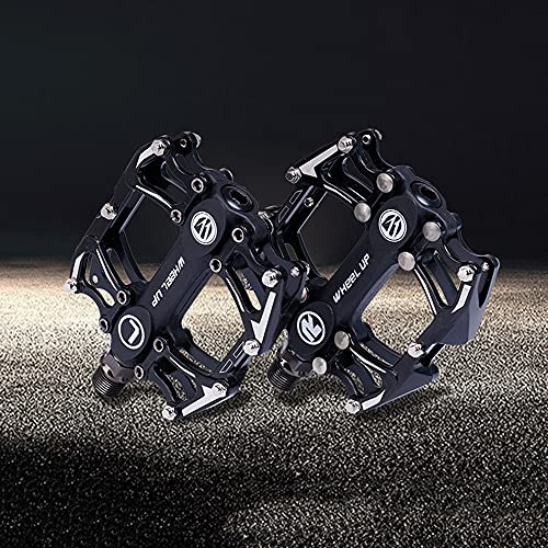 Pedales de Bicicleta, Pedal Fuerte de Aluminio para Bicicleta de Carretera MTB, Eje superpotente de 9/16', 3 Pedales de rodamientos Ultra sellados para Bicicleta de Carreras MTB BMX