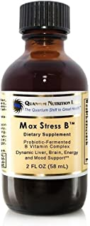 Quantum Max Stress B - 4 Oz / 2 bottles Probiotic-Fermented Premier Labs Max Vitamin B Formula for Dynamic Liver, Energy, Brain and Mood Support