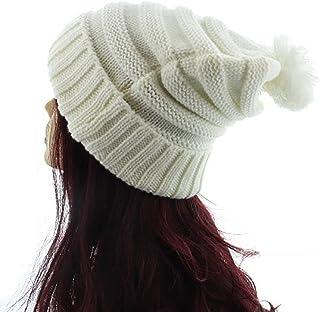 Milani Winter Thick Warm Slouchy Knit Oversized Pom Beanie Cap Hat