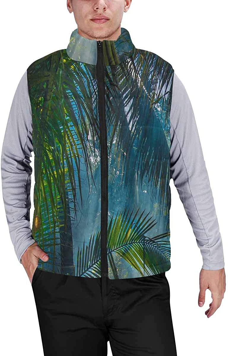 InterestPrint Men's Lightweight Outwear Vest for Hiking, Fishing Mochi Japanese Dessert Kawaii Food