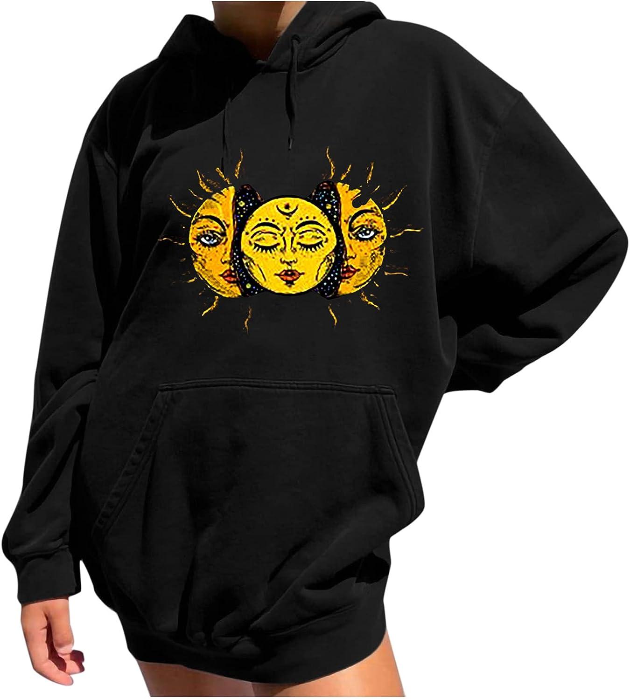 Womens Tops Casual Vintage Funny Loose Long Sleeve O-Neck Shift Printed Sweatshirt