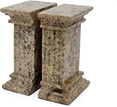MarbleCrafter Fossil Stone Fluted Column Bookends