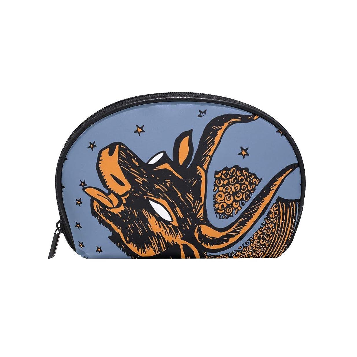 ヒップでメンタル半月型 ブルスター、アンティーク 化粧ポーチ コスメポーチ コスメバッグ メイクポーチ 大容量 旅行 小物入れ