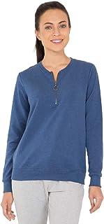 Jockey Women's Sweatshirt, Denim Blue Melange