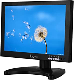 Eyoyo 10 Inch IPS LCD Hdmi Monitor 1920x1200 Full HD Monitor with HDMI/BNC/VGA/USB Input and Speaker for FPV Video Display DVD PC Laptop