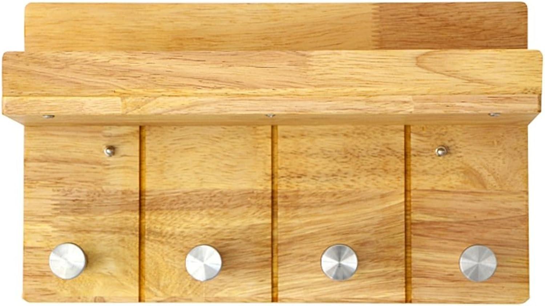 Coat Rack, Gran Adhesive Decorative Hanger Wall Shelf Solid Wood Clapboard Door Hook Free Nail Hanger 35  21cm Easy to Install (Size   35  21cm)