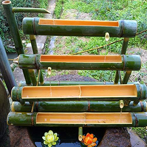ZLBIN Fuente De Agua con Caña De Bambú,Bomba De Estanque,Bird La Bomba De La Fuente del Baño Lindo, Jardín Kit De,85cm