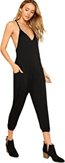 DIDK Womens Wrap and Tie Detail Tailored Jumpsuit