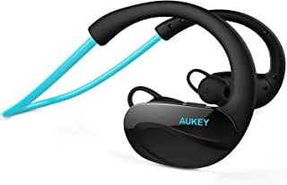 AUKEY Bluetooth Headphones, Wireless Sport Headset with Built-in Microphone, Blue
