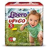 Pañales Libero Up&Go tamaño 5 – kg 10/14 – 88 unidades (4 paquetes de 22)