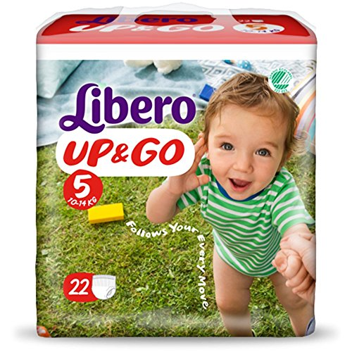 Pannolini Libero Up&Go Misura 5 - Kg 10/14 - 88 pezzi (4 pacchi da 22)