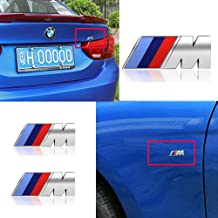 MASHA Compatible BMW Car Emblem 3D M Power Badge Decorative Tri Color Fender Side and Rear Trunk Emblem Logo Decal Sticker for All BMW Accessories (3pcs)