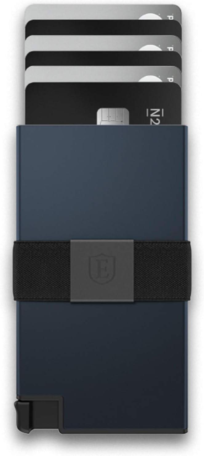 Ekster Aluminum Cardholder - 0.2-inch Slim Minimalist Wallet - Expandable Backplate, RFID Blocking Layer, Durable Space-Grade 6061-T6 Aluminum, 1-15 Card Storage Capacity (Midnight Blue)
