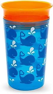 266ml Munchkin Tasse Miracle 360ᵒ /à petites gorg/ées d/écor/ée bleue motif baleines