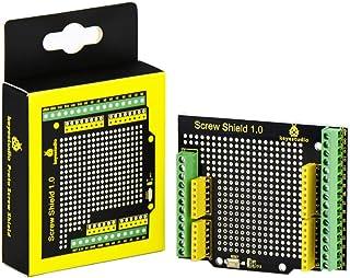 KEYESTUDIO Proto Screw Shield Assembled Bindingpost Proto Shield Terminal Prototype Expansion Board for Arduino Controller...