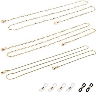 Eyeglass Chain for Women, Stainless Steel Sunglass Chain Eyeglass Holder Strap, Lanyard for Face Mask, Glasses, Eyewear