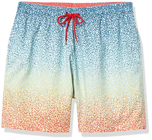 Nonwe Men's Swim Shorts Fashion Printed Summer Beach Soft Washed Retro Board Shorts Purple Dot 32