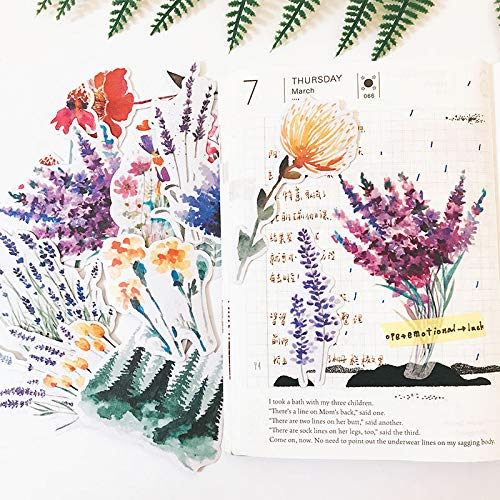 Blour stickers voor scrapbooking, motief: lavendelbloesem, met aquarel wind, om te knutselen, scrapbooking, bladwijzer, decoratief etiket DIY13 stuks